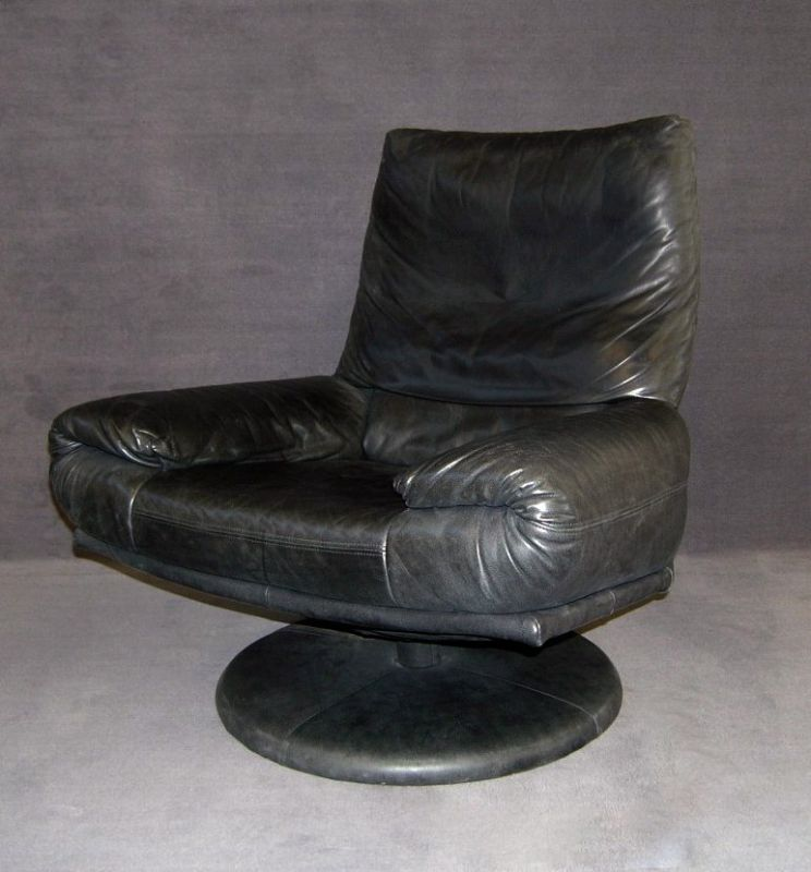 black leather swivel chair by rolf benz armchairs seating rolf benz