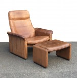 Reclining Leather Armchair by de Sede of Switzerland