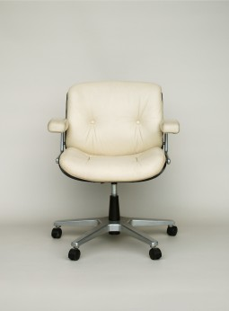 White Leather Chair by Gordon Russell for Giroflex
