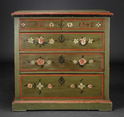 Scandinavian Painted Marriage Chest of Drawers