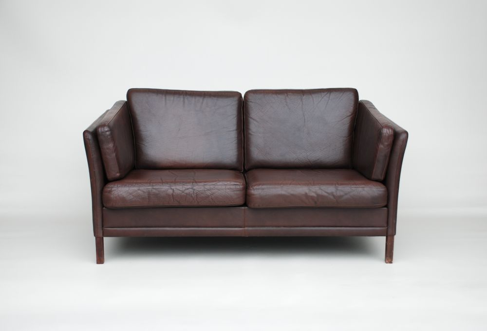 Small Brown Sofa Small Danish Dark Brown Leather Sofa