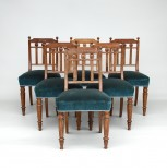 Set of Six Antique Dining Chairs in Oak