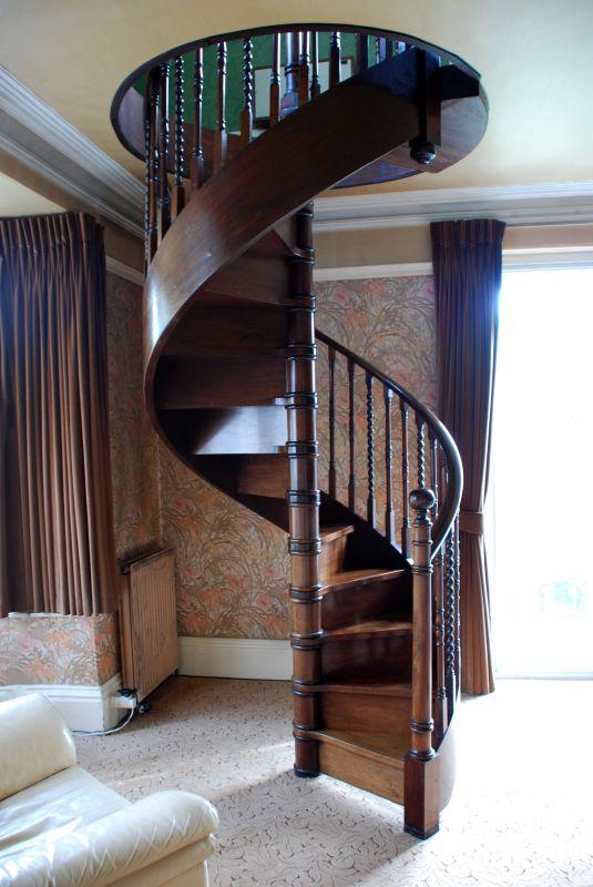Antique Mahogany Spiral Staircase Miscellaneous Apollo