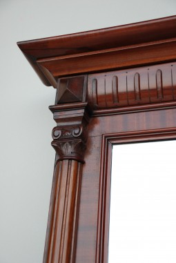 Large and Tall Mahogany Mirror
