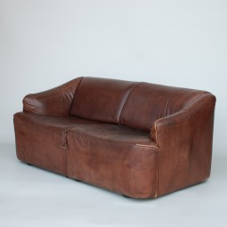 Leather Sofa by Asko, Fantastic Colour