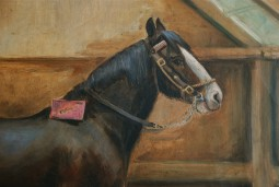 19th Century Painting, Horse in a Stable by May Burton