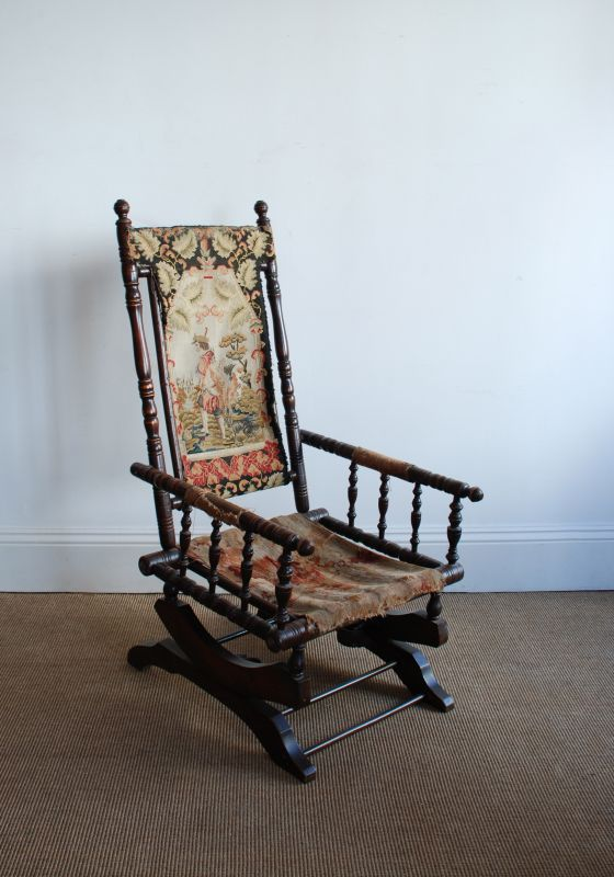 Antique American Rocking Chair ... - Antique American Rocking Chair : Seating : Apollo Antiques