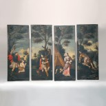 Set of Early Paintings of Old Testament Scenes