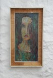 Painting by John Bratby, Woman with Long Hair