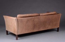 Leather Sofa, Danish Mogensen Style, Fantastic Colour