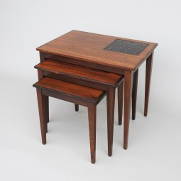 Danish Rosewood Nest of Tables, 1960s