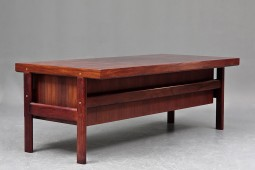 Large Danish Rosewood Desk by Arne Vodder for Sibast