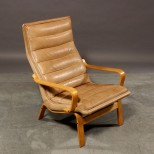 Danish Leather Armchair - Very Comfortable