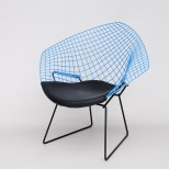 Classic Harry Bertoia 'Diamond' Chair in Blue, Rare