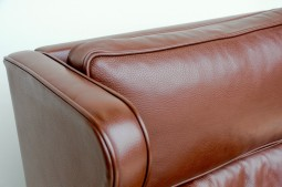 Danish Leather Wing Armchair in the Mogensen Style