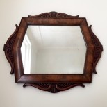 Antique Scandinavian Mahogany Mirror