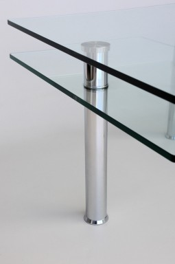 Coffee Table in Glass and Chrome