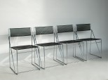 Four Wire Chairs by Neils Joergen Haugesen