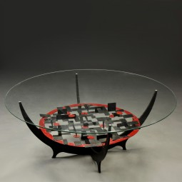 Sculptural Coffee Table in Steel by Niels Løvig Simonsen