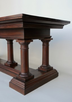 Large Italian Refectory Table in Mahogany