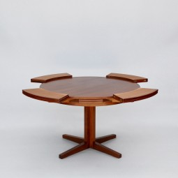 Dining Table by Dyrlund of Denmark, Lotus/Flip-Flap