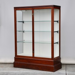 Antique Mahogany Shop Display Cabinet