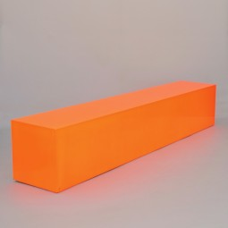 Large Orange Plinth/Stand (the future's bright)