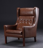 Borge Mogensen Style Leather Armchair