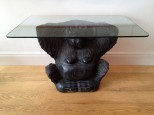 Carved Wooden Monkey Console Table
