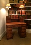 19th Century Walnut Desk/Dressing Table