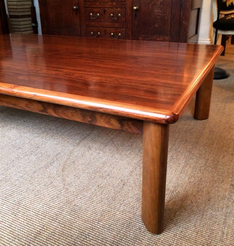 Large and low rosewood coffee table tables and desks for Large low coffee table