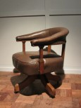 Desk Chair in Oak and Leather